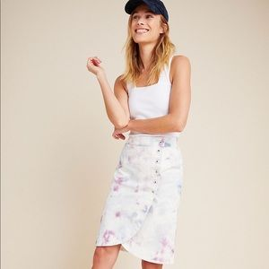 Anthropologie Kimmie Tie-Dyed Tulip Midi Skirt
